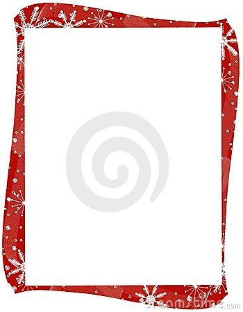 Free Red Xmas Snowflakes Border Royalty Free Stock Images - 3551409