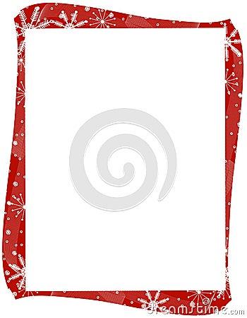 Red Xmas Snowflakes Border