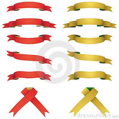 Red and yellow banners set