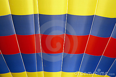 Red, Yellow, Blue Hot Air Balloon