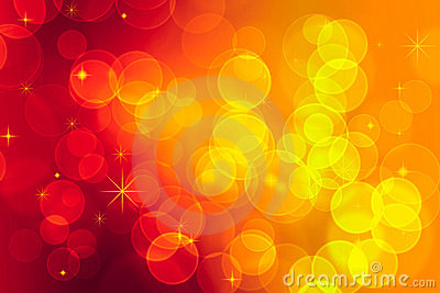 Red and yellow bokeh effect