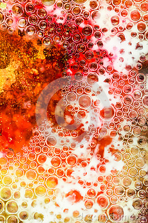 Red and yellow bubbles abstract