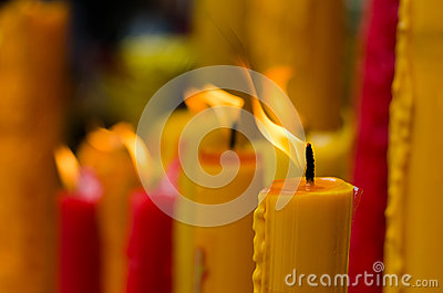 Red and Yellow candle