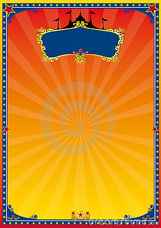 Vintage Circus Poster Background Red And Yellow Circus ...