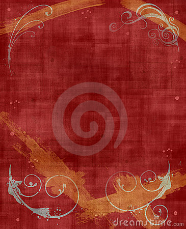Red & Yellow Grunge Background