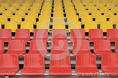Red and yellow seats
