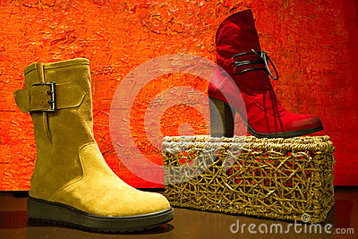 Red and yellow shoe