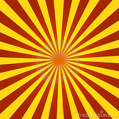 Red and Yellow Sunburst