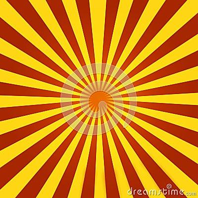 Red and Yellow Sunburst