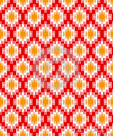 Red zigzag background for textile design