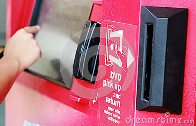 Redbox Automated Kiosk Editorial Stock Image