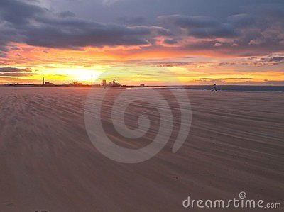 Redcar beach sunset
