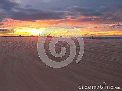 Redcar beach sunset
