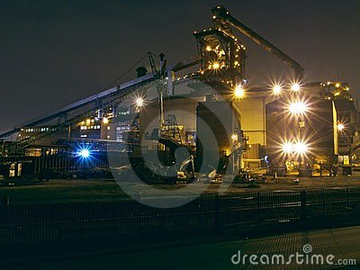 Redcar steel making blast furnace. SSI