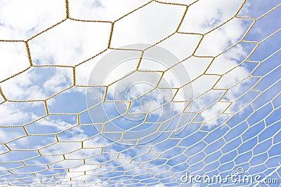 Rede do objetivo do futebol
