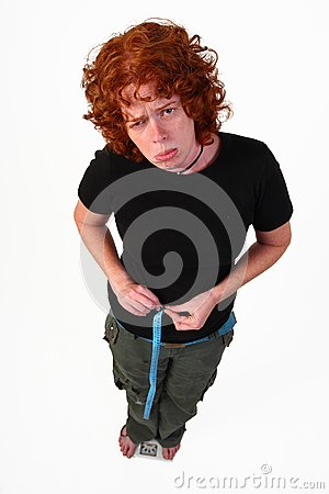 Redhead γυναίκα σιτηρεσίου