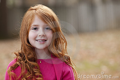 Redhead Child Female Stock Photo Image 12121220