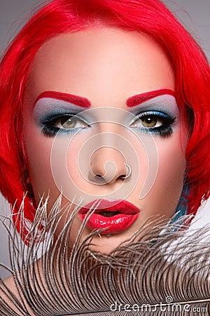 Redhead covergirl