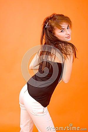 Free Redhead Glance Royalty Free Stock Photography - 1421257
