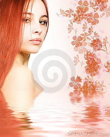 Free Redhead In Rendered Water Stock Images - 2402444