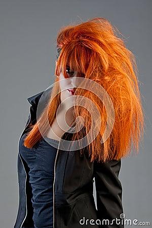 Redhead model posing