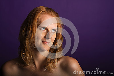 Redhead in the studio