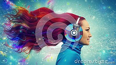 Redhead women listening