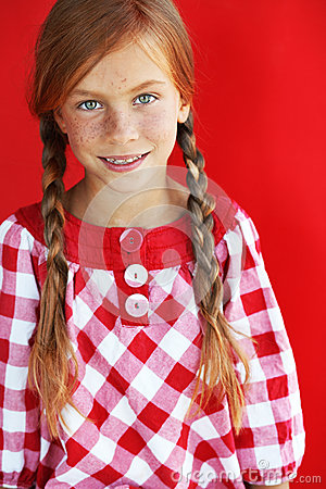 Redheaded child
