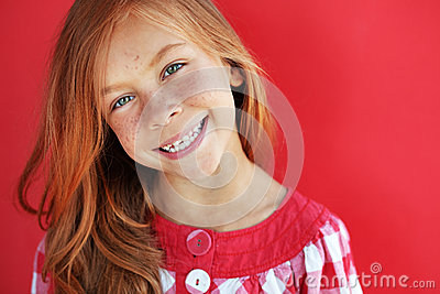 Redheaded child