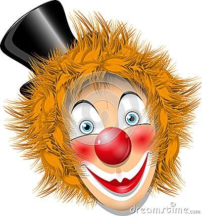 Redheaded clown