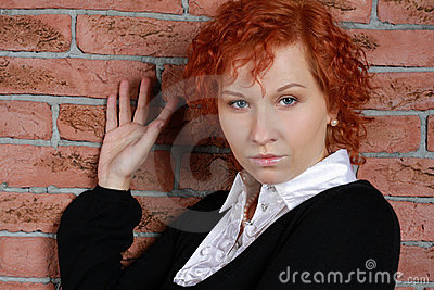 Redheaded young woman