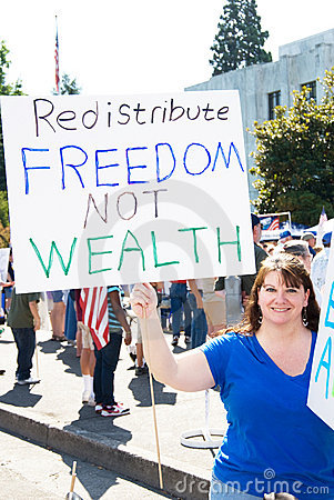 Redistribute freedom not wealth Editorial Photography
