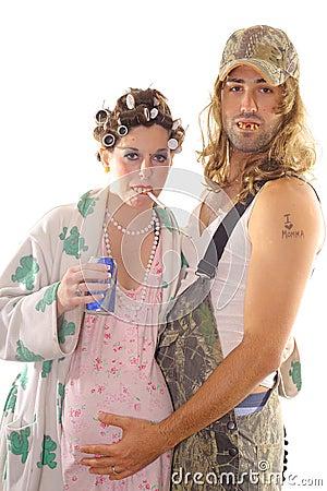 Free Redneck Hillbilly Couple Stock Photography - 7157582