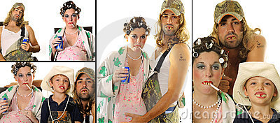 Redneck Hillbilly family portrait collage