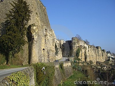średniowieczny forteczny Luxembourg