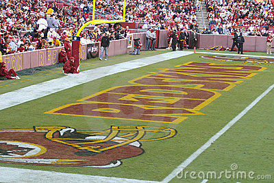 Redskins End zone: NFL - American Football Editorial Stock Photo