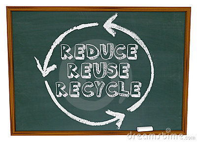 Reduce Reuse Recycle - Chalkboard