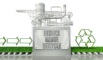 Reduce reuse recycle concept with eco symbol