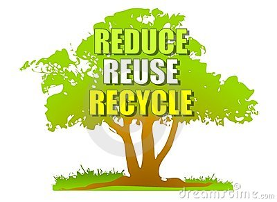 Reduce Reuse Recycle Green Tree
