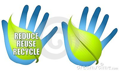 Reduce Reuse Recycle Leaf Hand