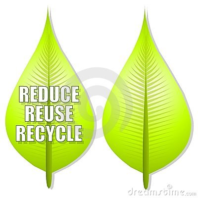 Reduce Reuse Recycle Leaf Logo