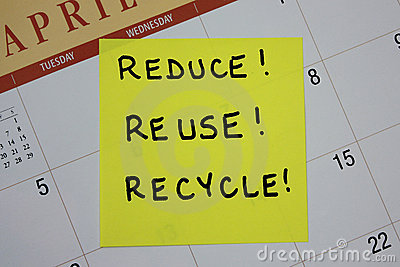 Reduce, Reuse, Recycle Note