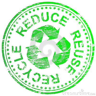 Free Reduce Reuse Recycle Stamp Royalty Free Stock Image - 27456356
