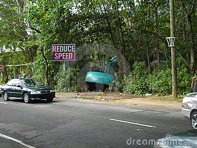Reduce speed more! Funny road traffic accident