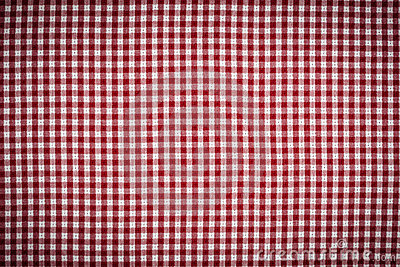 RedWhite Gingham Checkered Background Vignetted