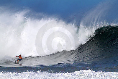 Reef McIntosh Surfing at Pipeline in Hawaii Editorial Image