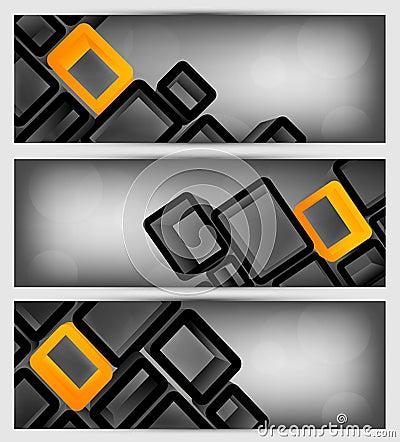 Reeks banners met 3d element