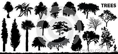 Reeks bomen