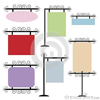 Reeks frames of tekens