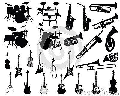 Reeks muzikale instrumenten